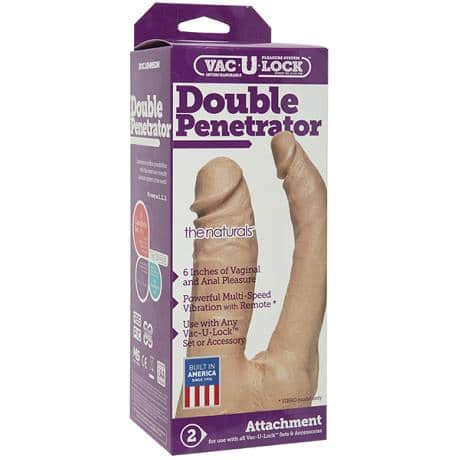 DOC JOHNSON Vac-U-Lock Double Penetrator the naturals Double Dildo