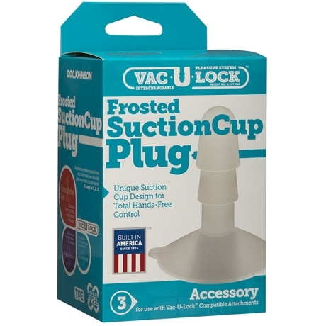 DOC JOHNSON Vac-U-Lock Frosted Suction Cup Plug