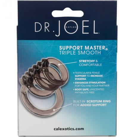 DR. JOEL KAPLAN Support Master Triple Smooth Cock Ring