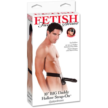 FETISH Fantasy Series 10″ BIG Daddy Hollow Strap-On