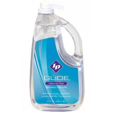 ID GLIDE Natural Feel Water Based Lubricant 64 fl oz / 1900ml