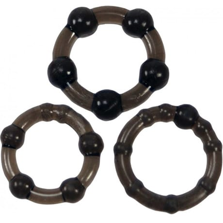 Lovehoney BASICS TRIPLE COCK RING SET Black