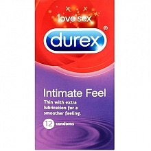 durex Intimate Feel Thin with extra lubricant for a smoother feeling. 12 condoms