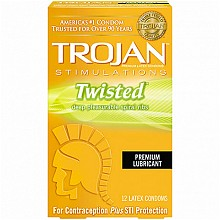 TROJAN SIMULATIONS Twisted Premium Lubricant 12 Latex Condoms
